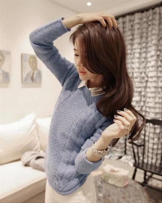 Korea Fashion Knit Cable Cardigan Shirt Cute Sweater