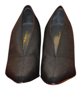 Bandolino Textile Uppers Leather Sole Size 8.5 M Wraps Your Foot Like A Cocoon Stacked Heel Black Boots