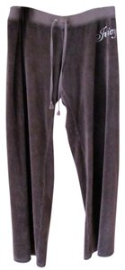 Juicy Couture Track Velour Athletic Pants Dark Grey