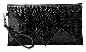 Gareth Pugh Leather Black Clutch