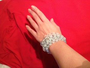 Michael B. Jewelry Hand Crafted Aquamarine Bracelet