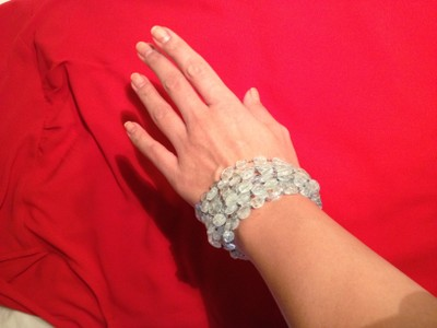 Hand crafted aquamarine bracelet 24 off 697831 jewelry for Michael b jewelry death