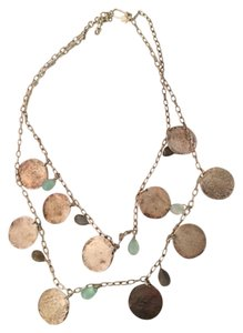 Stella & Dot Stella and Dot Silver Coin necklace.