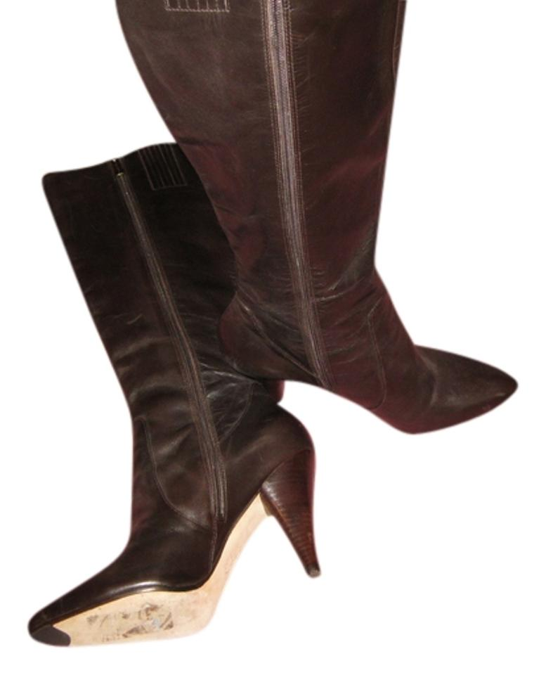 Via Bethany Spiga Brown Bethany Via Leather Knee High Boots/Booties aac833