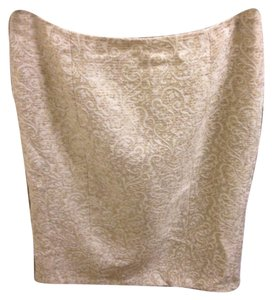 Ann Taylor Skirt Cream and gold