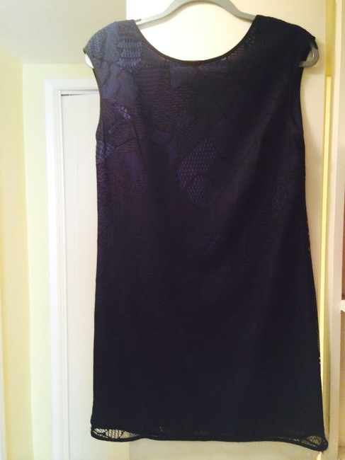 Preload https://item1.tradesy.com/images/marc-new-york-dark-blue-and-black-netted-mid-length-cocktail-dress-size-6-s-697940-0-0.jpg?width=400&height=650
