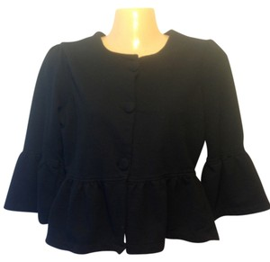 RXB Womens Juniors Petite Cropped Shirt 3/4 Sleeve Black Cute All Seasons Any Occasion Summer Autumn Fall Winter Spring Cardigan