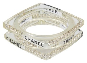 Chanel Chanel Clear Lucite Bangle Set