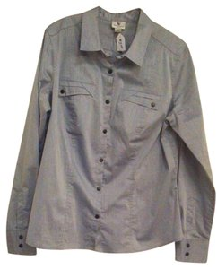 Worthington Button Down Shirt Grey/blue