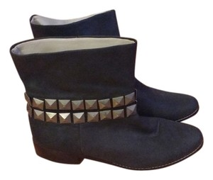 Steven by Steve Madden Grey Gray Mettallic Studs Dark gray Boots