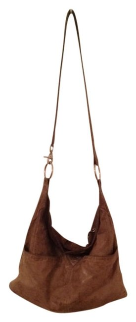 Item - Bohemian Vintage Brown/Taupe Leather Cross Body Bag