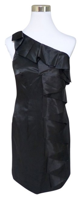 Calvin Klein One Shoulder Ruffle Holiday Dress