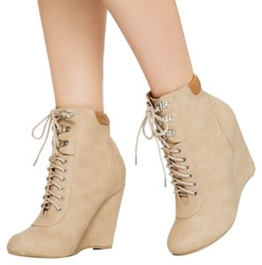 JustFab Nude Wedges