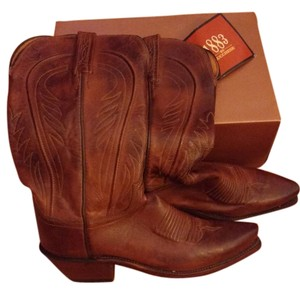 Lucchese Cowboy Brown Boots