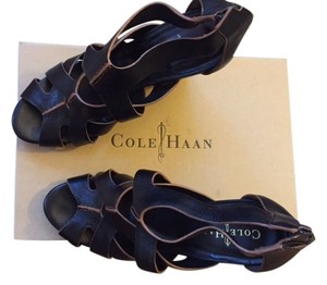 Cole Haan Black with Tan Trim Wedges