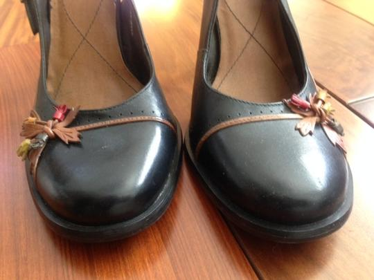 Two Lips Strappy Leather Black Pumps