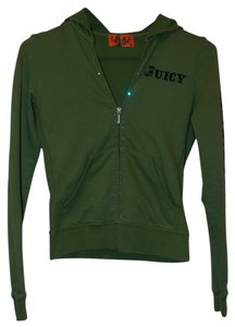 Juicy Couture Bling Gemstone Zip-up Lettering Lettered Sweatshirt