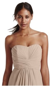 David's Bridal Bridesmaid Chiffon Gown Dress