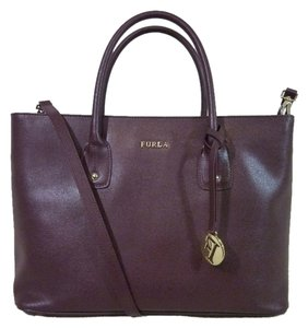 Furla Tote in Wine/Deep Burgundy