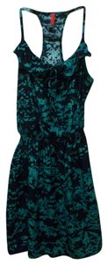 Eight Sixty short dress Blue Multi-Color Cinched Waist Patterned Speckled Ruffle on Tradesy