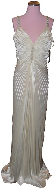 Item - Ivory Evening Or Bridal Gown Long Formal Dress Size 14 (L)