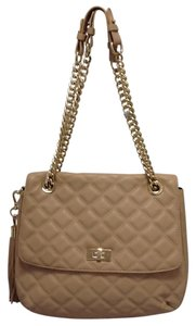 Saks Fifth Avenue Quilted Pastel Leather Classic Chic Shoulder Bag