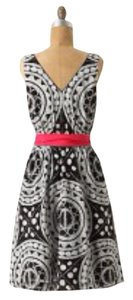 Anthropologie short dress Black/White on Tradesy