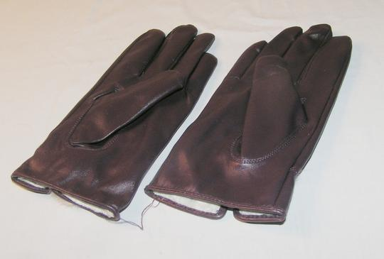 Unknown Purple Ladies Gloves With Real Rabbit Fur Free Shipping