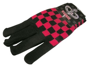 Unknown Checkboard Knit Gloves Free Shipping