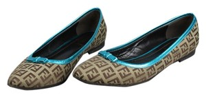 Fendi Brown/Teal Flats