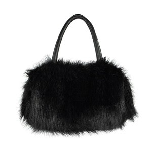 Faux Black Fur Handbag Free Shipping