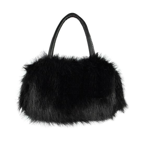 Bogo Free Faux Fur Black Handbag Free Shipping