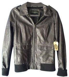 OBEY Blac Leather Jacket