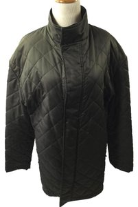 Burberry Quilted Coat Olive Jacket