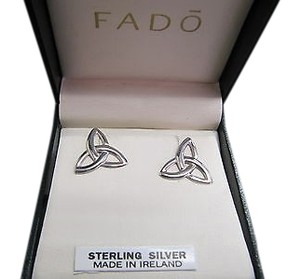 Fado Jewellery Ireland Sterling Silver 925 Trinity Knot Stud Earrings