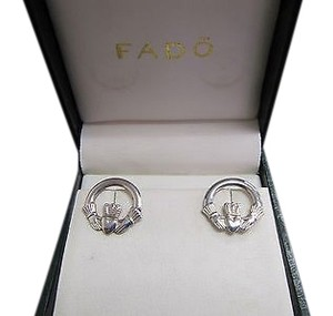 Fado Jewellery Ireland Sterling Silver 925 Claddagh Stud Earrings
