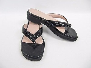 Taryn Rose Patent Black Sandals
