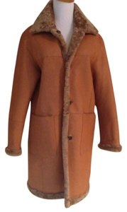 Andrew Marc Leather Shearling Reversible Fur Coat