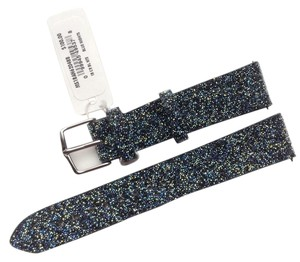 Michele Michele Blue Nights Crystal 16mm Leather Watch Band Strap MS16AN620488