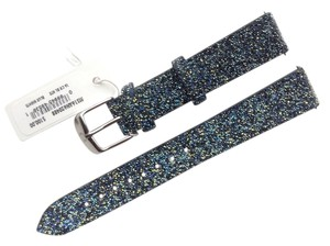 Michele Authentic Michele Blue Nights Crystal 16mm Leather Watch Band Strap MS16AN620488
