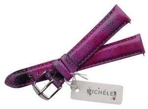 Michele Michele 16mm Twilight Purple Strap Genuine Leather Silver Buckle MS16AA43050
