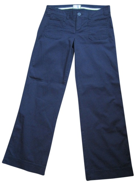 American Eagle Outfitters Wide Leg Pants Navy