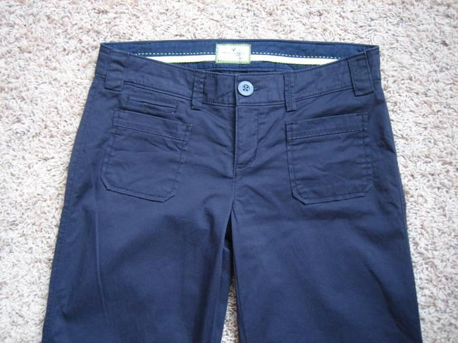 American Eagle Outfitters Cotton Wide Leg Pants Navy