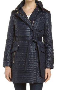 Via Spiga Quilted Belted Trench Coat