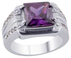 Unknown Simulated Purple Sapphire Ring