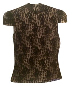 Laundry by Shelli Segal Top Black anx beige