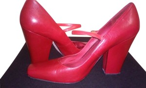 Other Business Look Square Toe Red Pumps