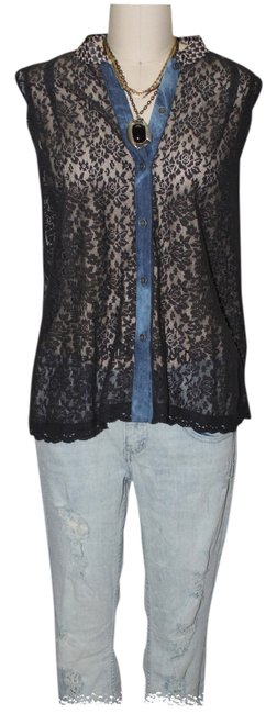 Free People Top black combo