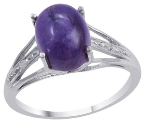 Unknown Siberian Charoite and Diamond Ring