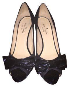 Kate Spade Bow Leather Black Pumps